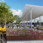 East Liberty Transit Center at eye level. (Courtesy Studio for Spatial Practice)