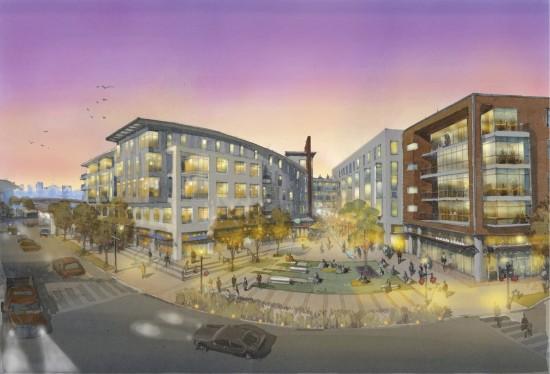 Eastside III East Plaza Rendering. (Courtesy Design Collective)