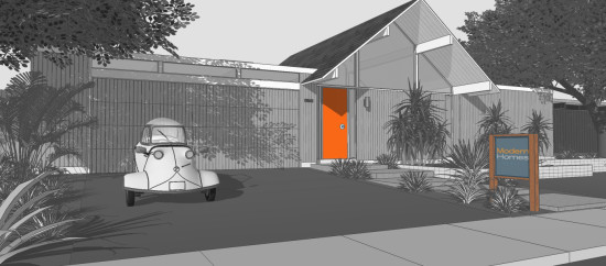 KUD Properties plans to build one or two Eichler-inspired homes in Palms Springs this year. (Thomas Sylvia of Modern Homes Realty)