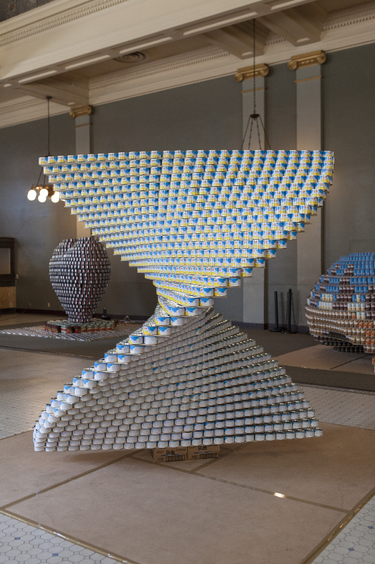 """""""Pineapple Twist"""" by NBBJ and Thornton Tomasetti took both Structural Ingenuity and People's Choice. (Benjamin Ariff Photography)"""