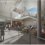Ruge Atrium and the Crossroads Cafe. (Courtesy Carnegie Mellon)