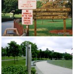 The Park's entrance, Before-and-after (Courtesy Riverlife)