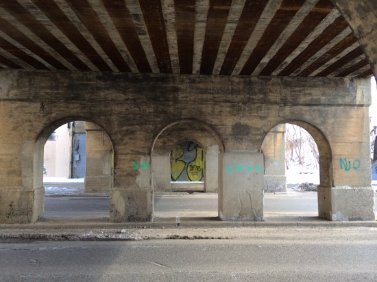 Two viaducts in Detroit will host public art interventions. (Ash Arder)