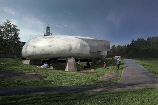 Radic's 2014 Pavilion. (Courtesy Serpentine Galleries)