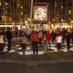 """Congregation"" at Market Square. (Courtesy John Altdorfer)"