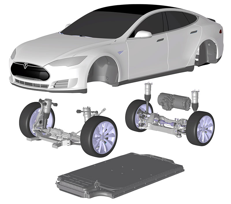 Is that musk in the air electric car space guru has plans for diagram of the tesla model s showing its battery pack courtesy tesla motors malvernweather Images