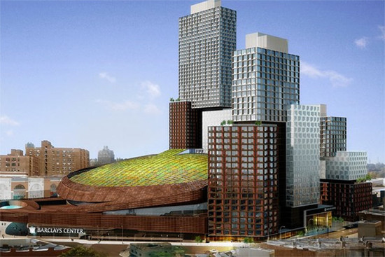 The Barclays Center green roof. (Courtesy SHoP Architects)