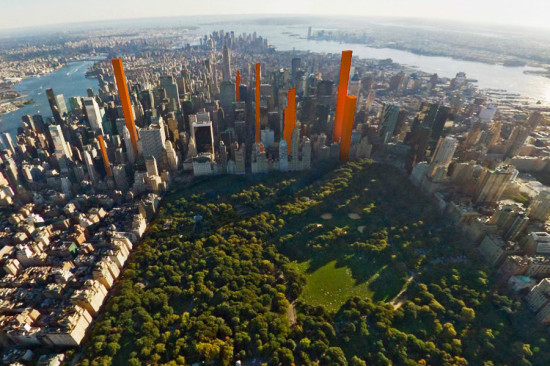 New supertall skyscrapers planned in Manhattan. (Courtesy Municipal Art Society)