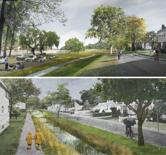 Interboro's Living by the Bay proposal. (Courtesy Interboro)