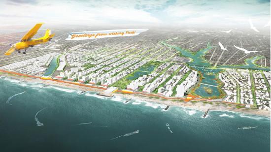 The Jersey shore in Sasaki's plan. (Courtesy Sasaki)