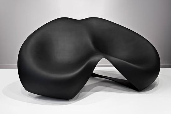 Zaha Hadid's Manta Ray bench. (Jacopo Spilimbergo)