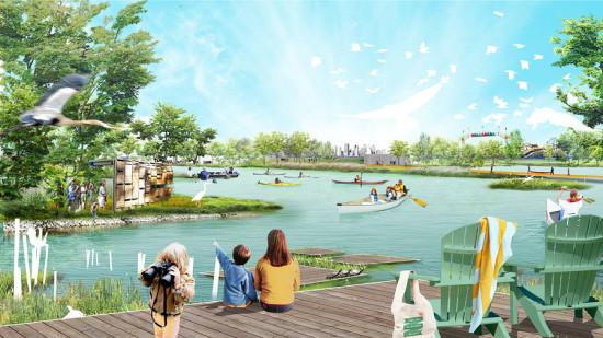 New public spaces. (Courtesy Sasaki)