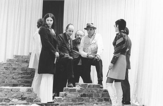 Hollein, Alfred Schmela, Joseph Beuys in 1970.