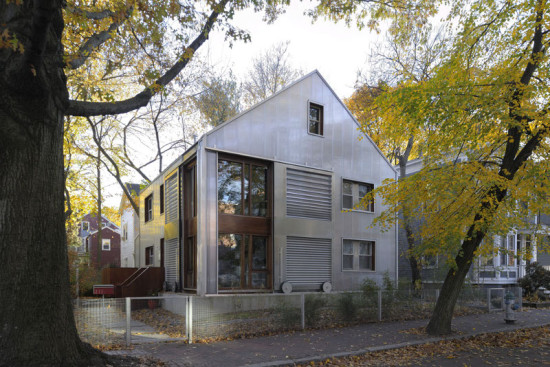 Armando and di Robilant updated an historic Cambridge home with a layered facade and oversize windows. (Paolo Rosselli)