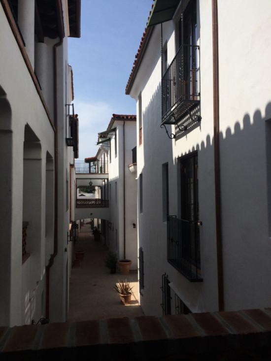 The adjacent condominiums were modeled on a Mediterranean village. (Courtesy Urban Developments)