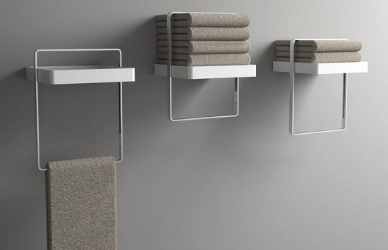 Slide Towel Shelf by Cristalplant. (Courtesy Cristalplant)
