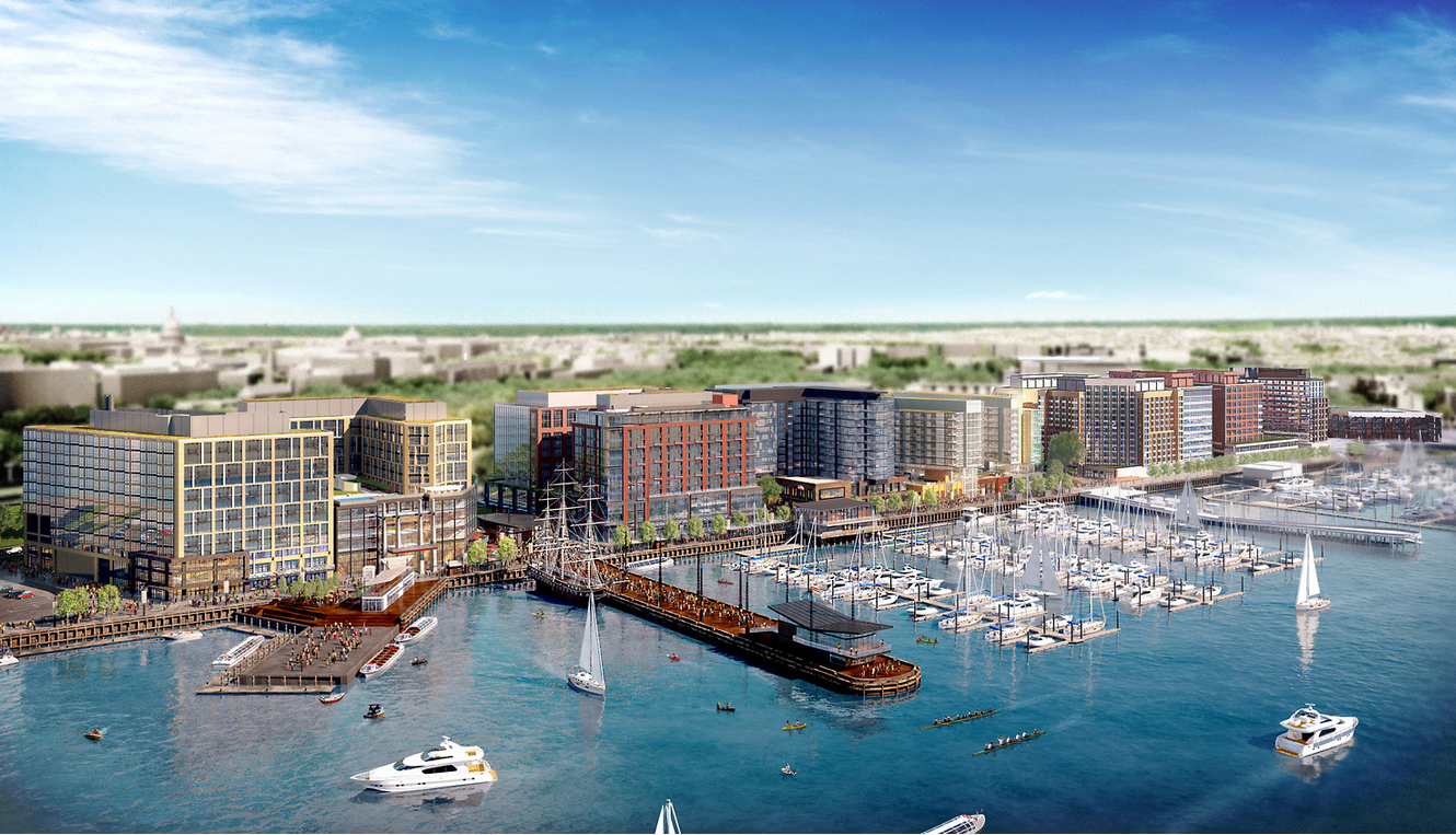 construction starts on massive mixed use development on the d c waterfront. Black Bedroom Furniture Sets. Home Design Ideas