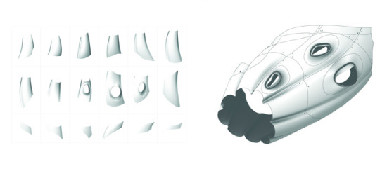Digital shape making for the installation.  (B+U)