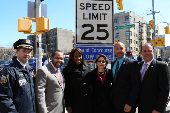 DOT Commisioner Polly Trottenberg at the announcement. ( Flickr / NYCSTREETS)