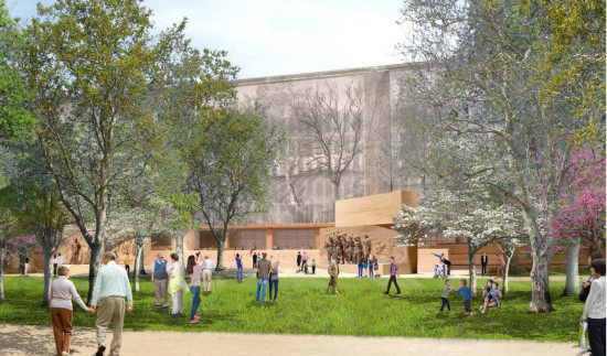 The NCPC rejected Gehry Partners' building and site plans for the Eisenhower Memorial on Friday. (Courtesy NCPC)