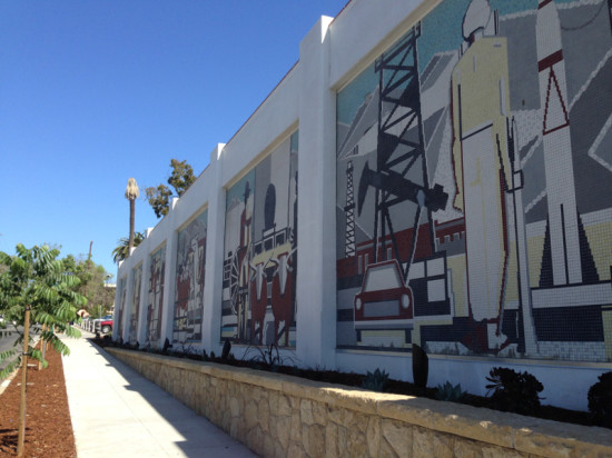 Cafarelli was required to preserve a 1959 mosaic mural by local artist Joseph Knowles. (Anna Bergren Miller)