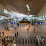 The architects chose warm materials for the station's interior. (Jannes Linders for Team CS)