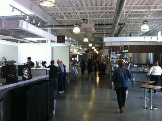Inside the market, vendors emphasize local, sustainable foods. (Courtesy Urban Developments)