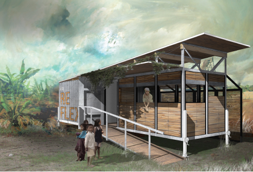 The winning student design by Christopher Knitt. (Courtesy Moved to Care)