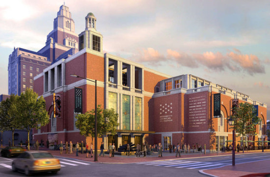 Stern's original proposal  MUSEUM OF THE AMERICAN REVOLUTION. (RENDERING NC3D.)