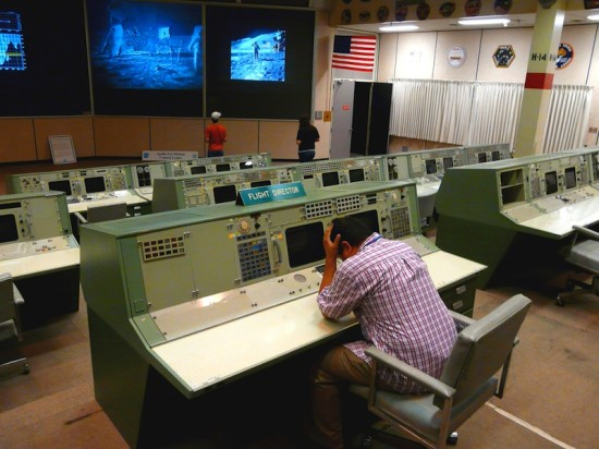 The historic control room associated with Johnson Space Center's greatest dramas (Photo Courtesy of Flickr)
