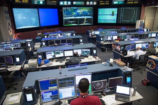 One of Johnson Space Center's control rooms (Photo Courtesy of NASA)