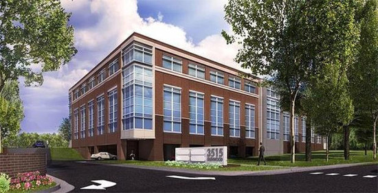 Rendering of the building that's proposed to replace the mid-century structure. (Courtesy NAI Carolantic Realty)