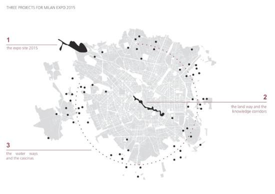 Site of the Milan Expo 2015. (Courtesy Herzog & de Meuron)