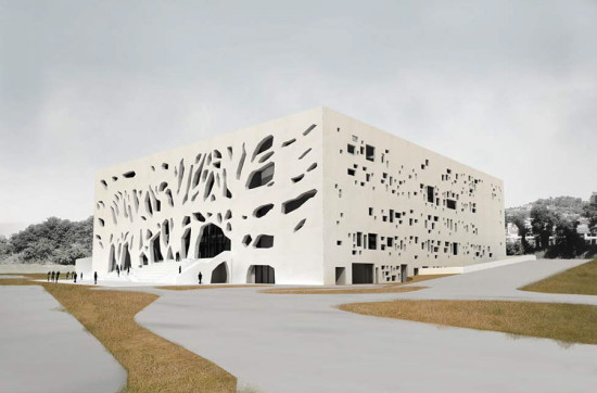 Anima's Exterior. (Courtesy Bernard Tschumi Architects)