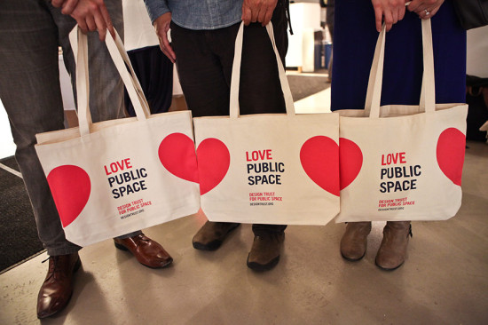Also unveiled at the event were new Design Trust tote bags. (Samuel LaHoz / Courtesy Design Trust)