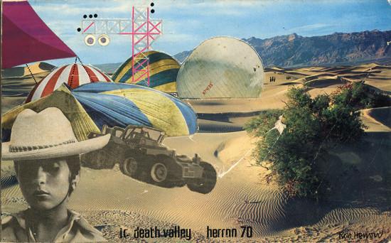 "Ron Herron (Archigram), ""Instant City, Death Valley,"" 1970. (Courtesy Simon Herron)"