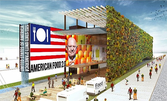 The U.S. Pavilion at Milan Expo 2015. (Courtesy Biber Architects)