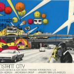 """Ron Herron (Archigram), """"Instant City, Santa Monica and San Diego Freeway Intersection,"""" 1968. (Courtesy Simon Herron)"""