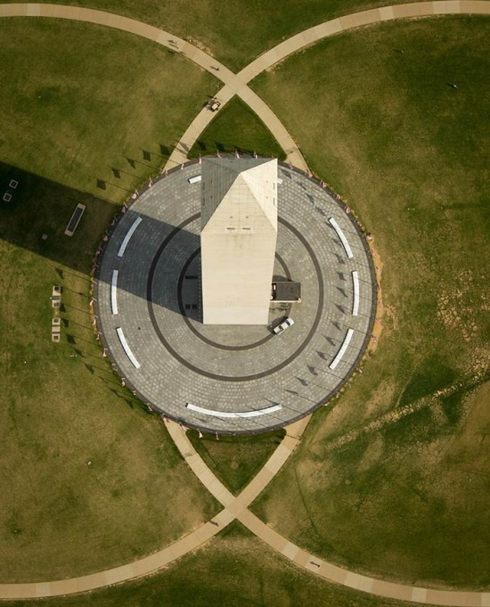 An aerial view of the Washington Monument. (NASA HQ PHOTO / Flickr)