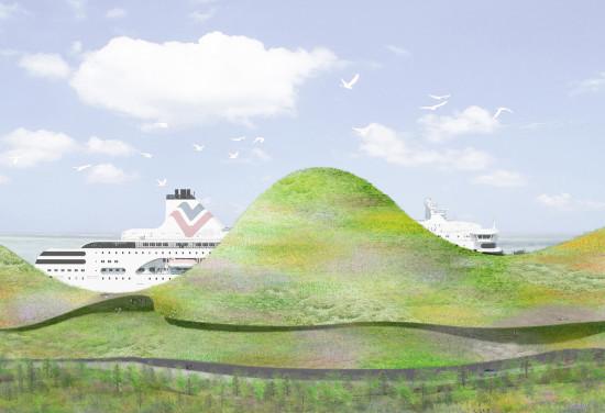 Ishigami + Associates' winning scheme (Kinmen Harbor Bureau)
