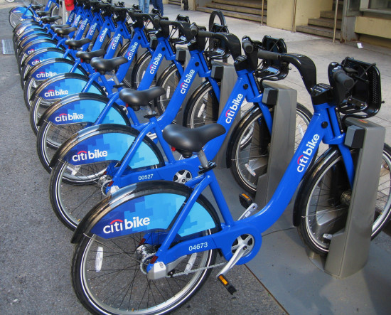 Citi Bike station in NYC. (Flickr / JMazzolaa)