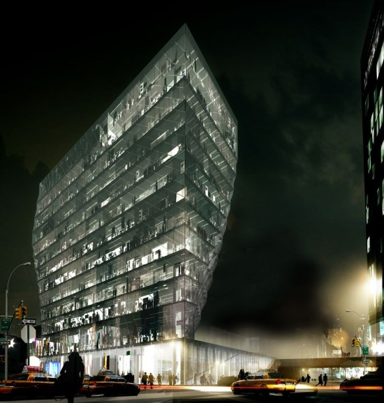 "Studio Gang's Initial rendering for the ""Solar Carve."" (Courtesy Studio Gang)"