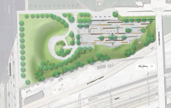 Plan for a new Skate Park in Grant Park. (Chicago Park District)