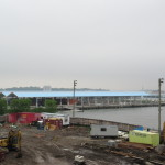 Pier 2 in the background, construction on new condos upfront.  (Henry Melcher / AN)