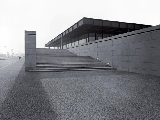 Mies van der Rohe, New National Gallery, Berlin, 1968, photograph by Balthazar Korab. (Courtesy Estate of Balthazar Korab)