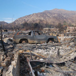 After the Oakridge Mobile Home Park near Los Angeles lost nearly 500 homes to the 2008 Sayre Fire, developers chose to rebuild a safer community with fire-resistant materials, earthquake bracing, and floodwater catch basins. (FEMA / Michael Mancino)