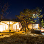 Glamping combines the outdoor orientation of traditional camping with the comforts of a hotel. (Courtesy ArchiWorkshop)