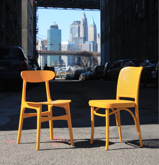 Chairs like these will be on display in Times Square. (Courtesy