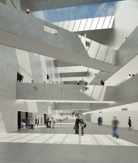 Inside ANIMA. (Courtesy Bernard Tschumi Architects)