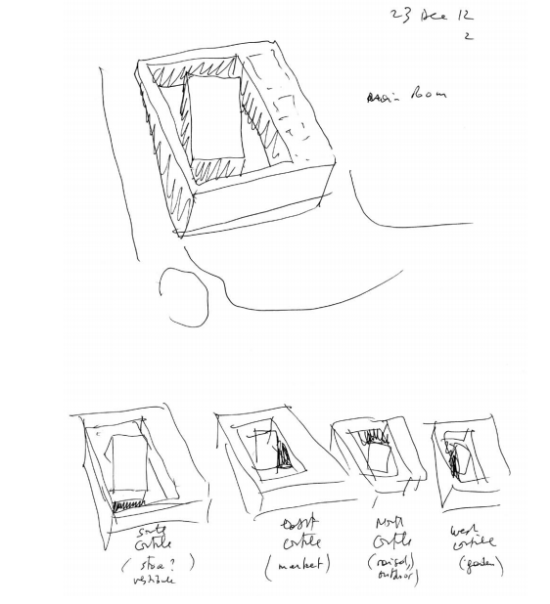 The architect's drawings.